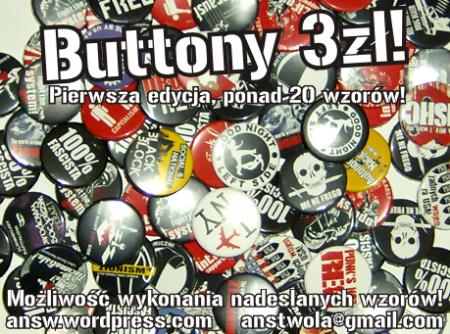 Autonomiczni Nacjonaliści Stalowa Wola buttony produkcja